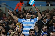 Even though Argentina were losing the crowd were in really good spirits during the Rugby World Cup Bronze Final match between South Africa and Argentina at the Queen Elizabeth II Olympic Park, London, United Kingdom on 30 October 2015. Photo by Matthew Redman.