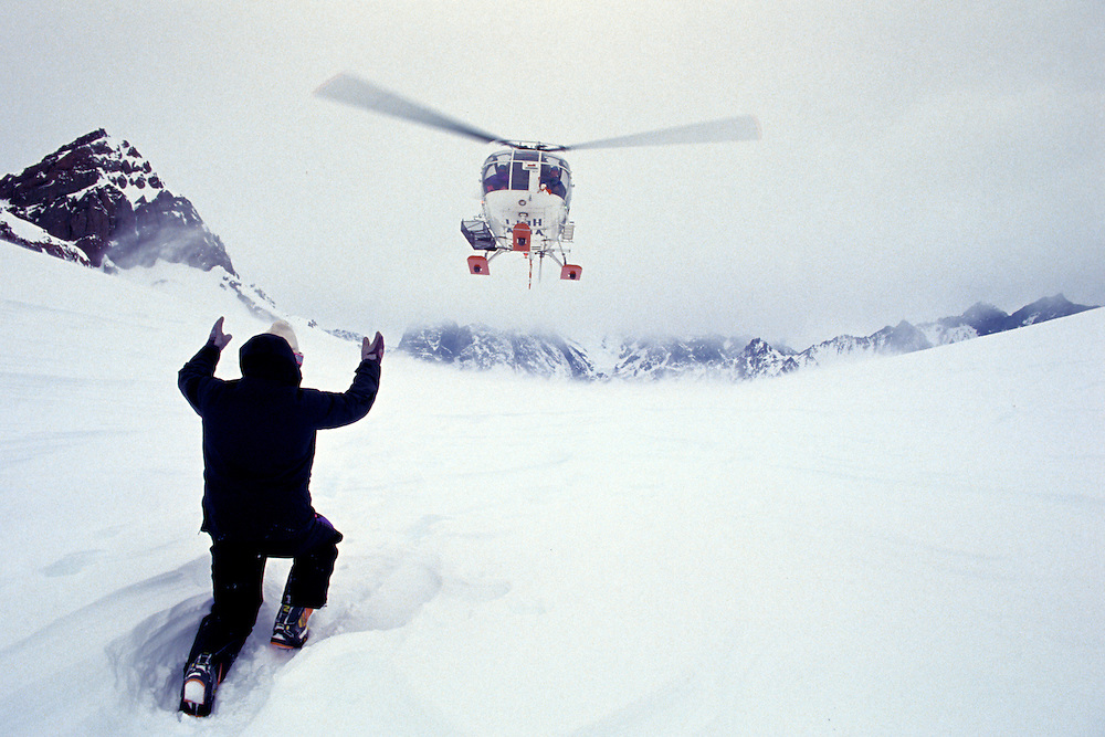 Helicopter rescue. Chile.
