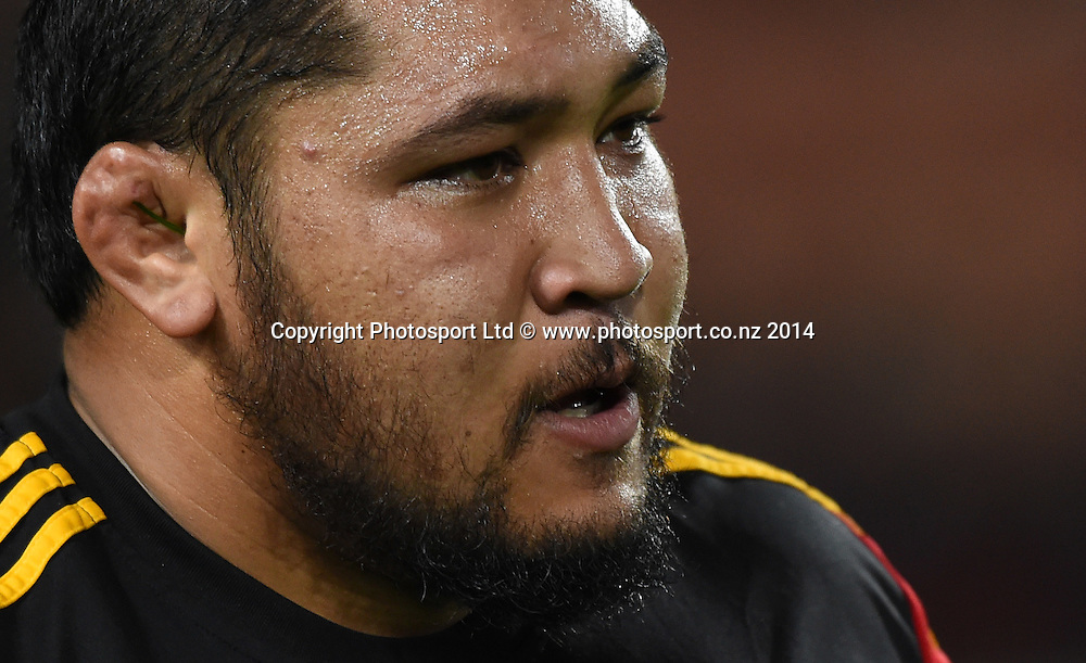 Ben Tameifuna. Chiefs v Rebels. Super Rugby. Waikato Stadium, Hamilton, New Zealand on Saturday 12 April 2014. Photo: Andrew Cornaga/www.Photosport.co.nz
