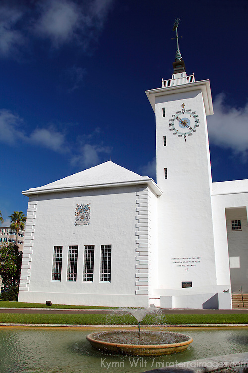 Bermuda, Hamilton. City Hall of Hamilton, Bermuda.