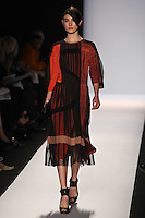Jacquelyn Jablonski walks the runway wearing BCBG MAXAZRIA Fall 2012 during Mercedes-Benz Fashion Week in New York City,  on February 9th, 2012
