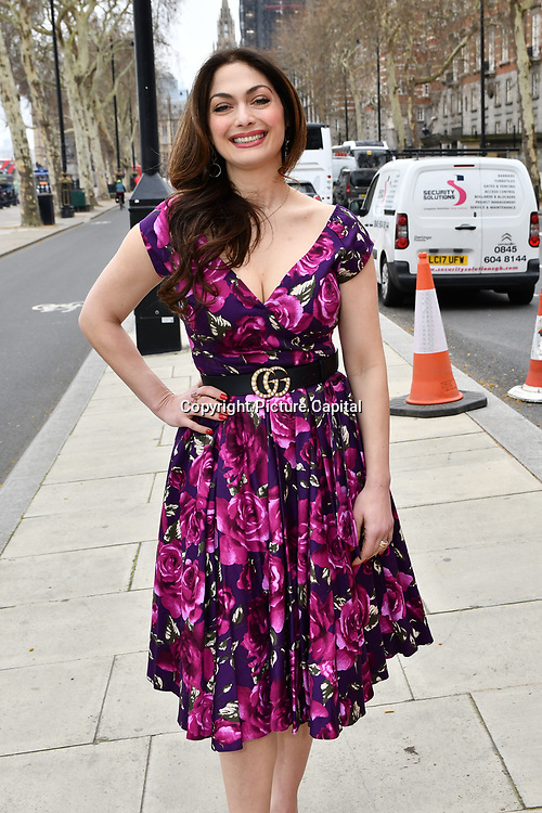 Tonia Buxton attend Celeb Bri Tea, on board the BB Bakery bus on 22 March 2019, London, UK.