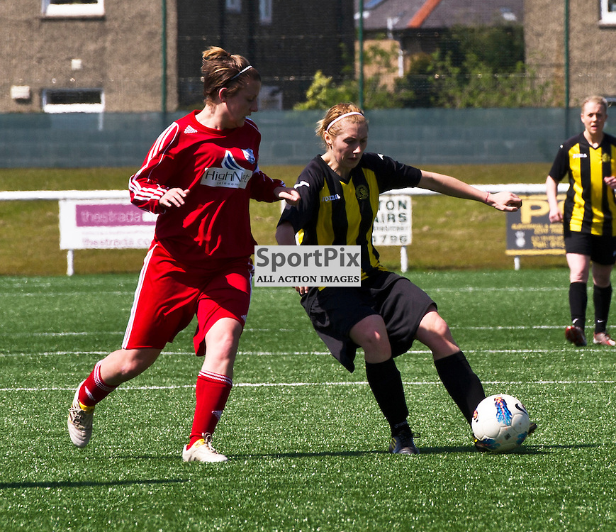 Catherine Smart controsl the ball. Hutchison Vale take on Inverness in the Scottish Women?s Premier League. 20 May 2012 (Ger Harley | STOCKPIX)