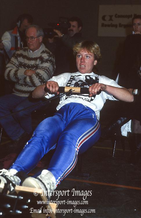Henley. England.  1999. British Indoor Rowing Championships. Henley College. Henley on Thames.<br /> [Mandatory Credit: Peter SPURRIER/Intersport Images] 1991 British Indoor [Ergo] Rowing Championships, England Stock