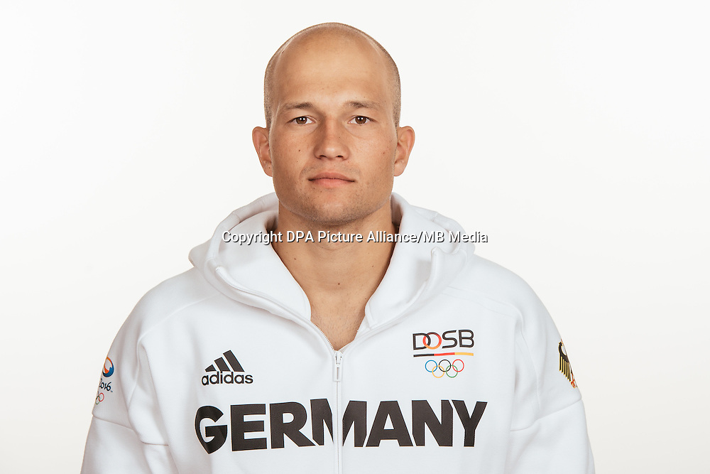 Anton Franz poses at a photocall during the preparations for the Olympic Games in Rio at the Emmich Cambrai Barracks in Hanover, Germany, taken on 19/07/16 | usage worldwide