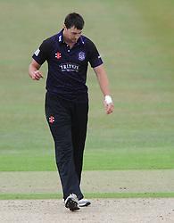 James Fuller of Gloucestershire cuts a dejected figure - Photo mandatory by-line: Dougie Allward/JMP - Mobile: 07966 386802 - 12/07/2015 - SPORT - Cricket - Cheltenham - Cheltenham College - Natwest Blast T20