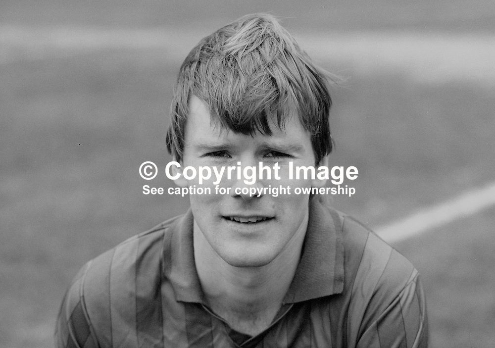 Raymond Hill, footballer, Ards FC, N Ireland, March 1986, 19860302RH<br />