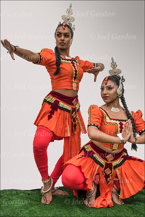 Kandysan Sri Lankan dancers showing their ethnic pride.<br /> <br /> The group preformed at &quot;Drums Along the Hudson&quot; a Native American and Multicultural Celebration in Inwood Hill Park, NYC.  <br /> <br /> The Sri Lankan Dance Academy of NY is a dance school and performing ensemble, promoting cultural harmony between communities of Sri Lankan heritage.