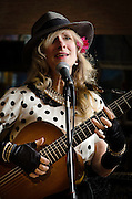 Andrea Calrson performing with The Love Police at The Bus Stop Music Cafe in Pitman, NJ.