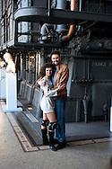 Roma 29 Marzo 2011.Centrale Montemartini.Presentato Flashdance il Musical, lo spettacolo tratto dal film culto degli anni  80..Marta Belloni e Filippo Strocchi