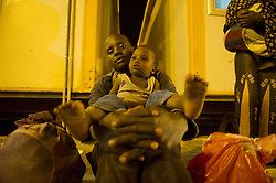 Migrants are transferred from Tamanrasset to In Guezza in southern Algeria on July 2, 2018. Nigerian illegal migrants (majority of women and children) who lived in Algeria by begging, according to the Algerian authorities, will be returned to their country once the administrative arrangements are completed. Photo by Louiza Ammi/ABACAPRESS.COM