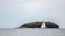 THEMENBILD - URLAUB IN KROATIEN, ein Segelschiff vor einer Insel, aufgenommen am 02.07.2014 in Vrsar, Kroatien // a sailing boat in front of an island in Vrsar, Croatia on 2014/07/02. EXPA Pictures © 2014, PhotoCredit: EXPA/ JFK
