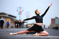 Dance As Art Photography Project- Coney Island Boardwalk Series featuring dancer Mykaila Symes