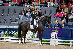SAFRONOVA Olga (BLR), Sandro D Amour<br /> Göteborg - Gothenburg Horse Show 2019 <br /> FEI Dressage World Cup™ Final I<br /> Int. dressage competition - Grand Prix de Dressage<br /> Longines FEI Jumping World Cup™ Final and FEI Dressage World Cup™ Final<br /> 05. April 2019<br /> © www.sportfotos-lafrentz.de/Stefan Lafrentz