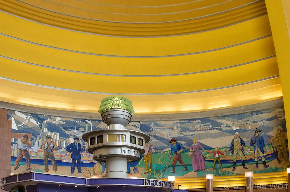 Union Terminal Murals at the Cincinnati Airport