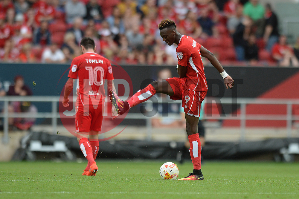 Tammy Abraham of Bristol City cuts a frustrated figure as Bristol City concede a goal - Mandatory by-line: Dougie Allward/JMP - 17/09/2016 - FOOTBALL - Ashton Gate Stadium - Bristol, England - Bristol City v Derby County - Sky Bet Championship
