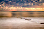 Long exposure of an amazing sky and a drainage outflow in Nags Head on  the Outer Banks of NC.