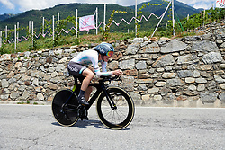 Lizzy Banks (GBR) during Stage 6 of 2019 Giro Rosa Iccrea, a 12.1 km individual time trial from Chiuro to Teglio, Italy on July 10, 2019. Photo by Sean Robinson/velofocus.com