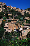 SPAIN: Mallorca (Majorca).Deia on the Costa Norte, where the poet Robert Graves lived for many years.