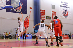 Matthias Seilund of Bristol Flyers takes a shot - Mandatory byline: Dougie Allward/JMP - 07966 386802 - 23/10/2015 - FOOTBALL - SGS Wise Campus - Bristol, England - Bristol Flyers v Manchester Giants - British Basketball League