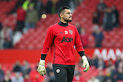 Sergio Romero Goalkeeper of Manchester United in warm up during the Premier League match between Manchester United and Middlesbrough at Old Trafford, Manchester, England on 31 December 2016. Photo by Phil Duncan.