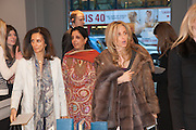 MRS AIDEN BARCLAY; MONICA BURMAN; PIA GETTY, Smythson Sloane St. Store opening. London. 6 February 2012.