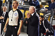 DESCRIZIONE : Roma Lega A 2014-15 Acea Roma Granarolo Bologna<br /> GIOCATORE : Luca Dalmonte Gianluca Mattioli<br /> CATEGORIA : coach allenatore ritratto delusione arbitro<br /> SQUADRA : Acea Roma<br /> EVENTO : Campionato Lega A 2014-2015<br /> GARA : Acea Roma Granarolo Bologna<br /> DATA : 04/01/2015<br /> SPORT : Pallacanestro <br /> AUTORE : Agenzia Ciamillo-Castoria/GiulioCiamillo<br /> Galleria : Lega Basket A 2014-2015<br /> Fotonotizia : Roma Lega A 2014-15 Acea Roma Granarolo Bologna