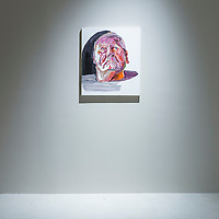 Ben Quilty, Straight White Male exhibition, at Pearl Lam Galleries on January 15 2015, in Hong Kong, China. Photo by Mike Pickles / studioEAST