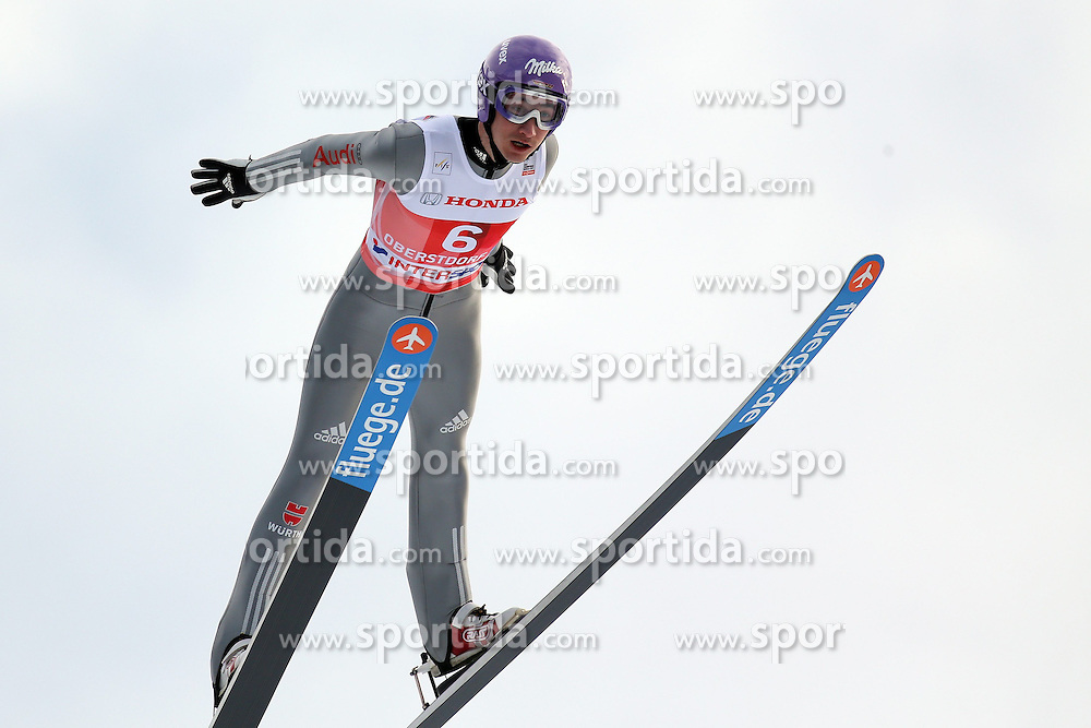 28.12.2013, Schattenbergschanze, Oberstdorf, GER, FIS Ski Sprung Weltcup, 62. Vierschanzentournee, Garmisch Partenkirchen, Bewerb, im Bild Martin Schmitt // Martin Schmitt during Competition of 62th Four Hills Tournament of FIS Ski Jumping World Cup at the at the Schattenbergschanze in Oberstdorf, Germany on 2013/12/28. EXPA Pictures &copy; 2014, PhotoCredit: EXPA/ Sammy Minkoff<br /> <br /> *****ATTENTION - OUT of GER*****