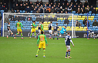 Football - 2019 / 2020 Sky Bet (EFL) Championship - Millwall vs. West Bromwich Albion<br /> <br /> West Bromwich Albion's Dara O'Shea (hidden) scores his side's second goal , at The Den.<br /> <br /> COLORSPORT/ASHLEY WESTERN
