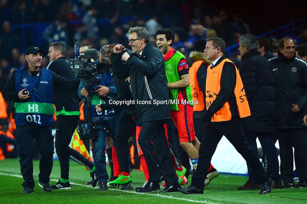Joie Laurent BLANC - 11.03.2015 - Chelsea / Paris Saint Germain - 1/8Finale retour Champions League<br /> Photo : Dave Winter / Icon Sport