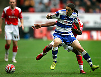 Photo: Tom Dulat.<br /> <br /> Charlton Athletic v Queens Park Rangers. Coca Cola Championship. 27/10/2007.<br /> <br /> Hogan Ephraim of Queens Park Rangers and Lloyd Sam of Charlton Athletic with the ball.