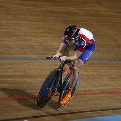 Laura van der KAmp werd derde op de 500 meter bij de vrouwen