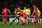 Hendrik Lambertus Roodt of Lyon and Virgile Lacombe of Lyon during the French championship Top 14 Rugby Union match between Lyon OU and Clermont on February 17, 2018 at Groupama stadium in Lyon, France - Photo Romain Biard / Isports / ProSportsImages / DPPI