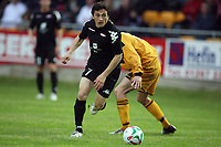Photo: Rich Eaton.<br /> <br /> Carmarthen Town v SK Brann. UEFA Cup Qualifying. 19/07/2007. SK Brann's Ardian Gashi attacks.