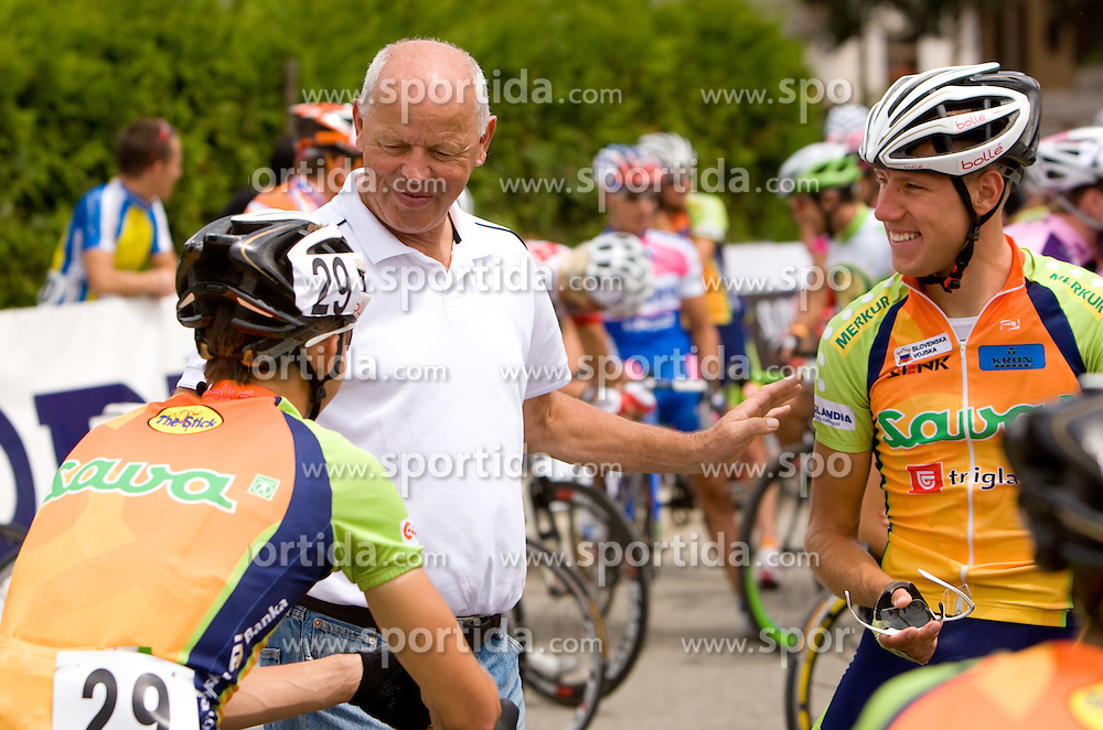 Gasper Svab, Franc Hvasti and Vladimir Kerkes at Slovenian National Championships in Road cycling, 178 km, on June 28 2009, in Mirna Pec, Slovenia. (Photo by Vid Ponikvar / Sportida)