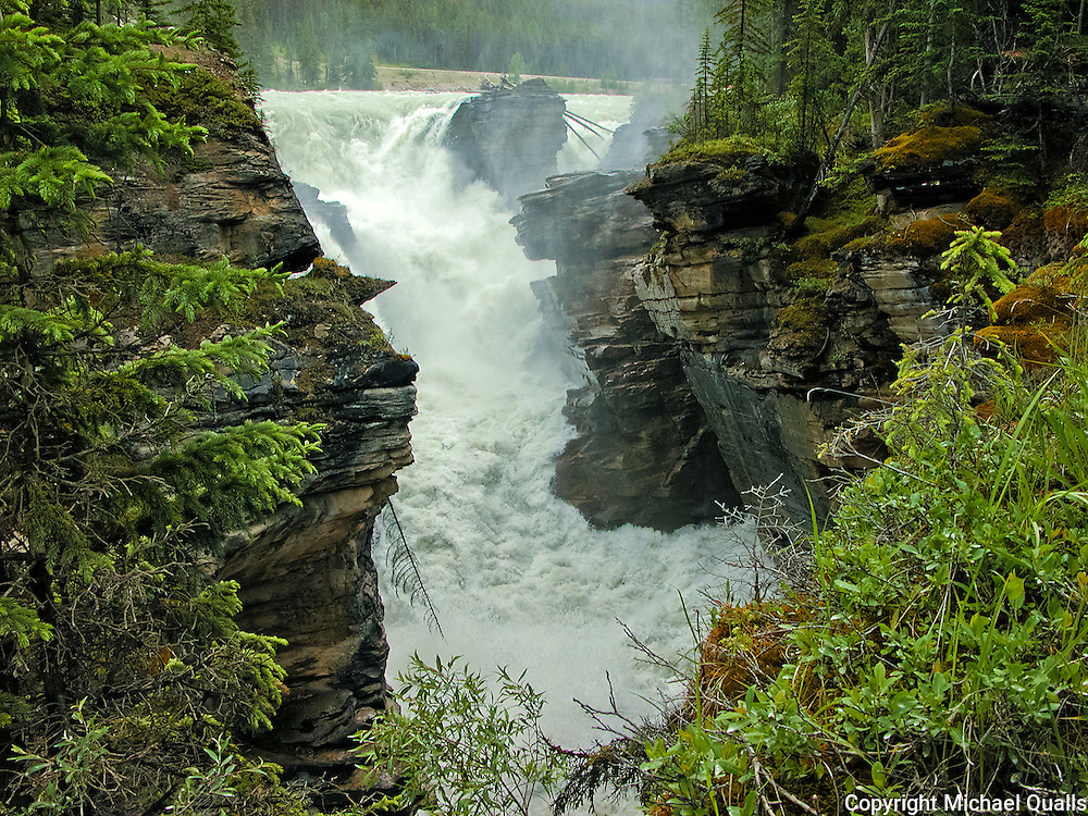 An arm of Athabasca Falls, Jasper NP