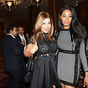 "Keisha White and Linda Sard attend Photocall in London Premiere of ""Parwaaz Hai Junoon"" (Soaring Passion) as featured on SKY, ITV at The May Fair Hotel, Stratton Street, London, UK. 22 August 2018."