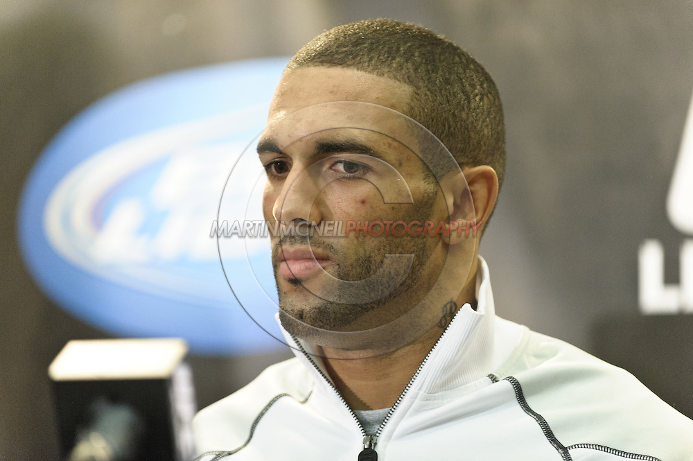 BIRMINGHAM, ENGLAND, NOVEMBER 5, 2011: Che Mills is pictured during the post-fight press conference for UFC 138 inside the LG Arena on November 5, 2011.