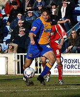 Photo: Dave Linney.<br />Shrewsbury Town v Leyton Orient. Coca Cola League 2. 04/03/2006.Shrewsbury's Mark Stallard