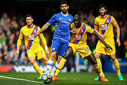 Mamadou Sakho of Crystal Palace holds back Diego Costa of Chelsea - Mandatory by-line: Jason Brown/JMP - 01/04/2017 - FOOTBALL - Stamford Bridge - London, England - Chelsea v Crystal Palace - Premier League