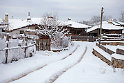 Village of Brashlyan in Strandzha mountain at winter