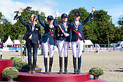 Podium Dressage Ponies The Netherlands<br /> FEI European Championships Ponies 2016<br /> © DigiShots