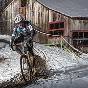 Jean-Philippe Thibault-Roberge of Trek at the Championnats québécois de cyclocross in St-Augustin in  on November,  10 2013