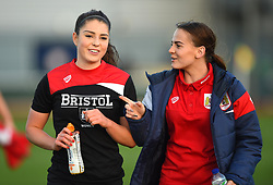 Poppy Wilson and Lily Woodham of Bristol City Women - Mandatory by-line: Paul Knight/JMP - 28/10/2017 - FOOTBALL - Stoke Gifford Stadium - Bristol, England - Bristol City Women v Reading Women - FA Women's Super League