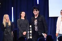 Gary Numan accepts his award during the  O2 Silver Clef Awards 2019, Grosvenor House, London, UK, Friday 05 July 2019<br /> Photo JM Enternational