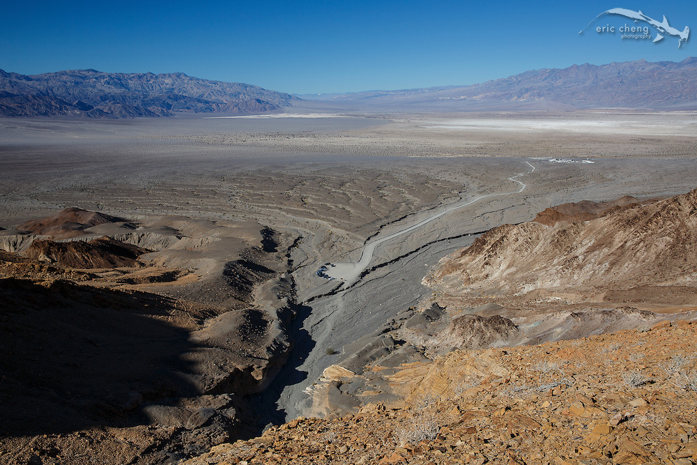 View of Death Valley from one of the small peaks near Mosaic Canyon