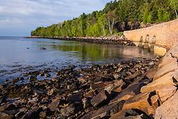 Granite bridge on the Park Loop Road in Otter Cove, Acadia National Park, Maine.