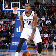 Reno Bighorns Guard Ra'shad James (10) dribbles the ball at the top key in the second half of a NBA D-league regular season basketball game between the Delaware 87ers and the Reno Bighorns (Sacramento Kings), Tuesday, Feb. 10, 2015 at The Bob Carpenter Sports Convocation Center in Newark, DEL