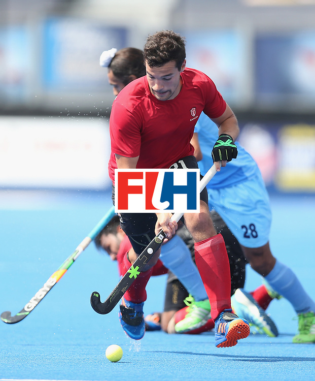LONDON, ENGLAND - JUNE 17:  Matthew Sarmento of Canada during the Hero Hockey World League semi final match between Canada and India at Lee Valley Hockey and Tennis Centre on June 17, 2017 in London, England.  (Photo by Alex Morton/Getty Images)